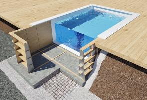 Trästomme - Scandinavian - Swimmingpool & Spa