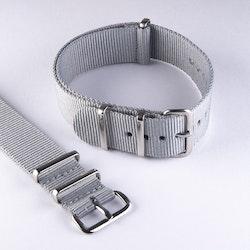 NATO-armband grey - grå 18 mm 20 mm 22 mm 24 mm