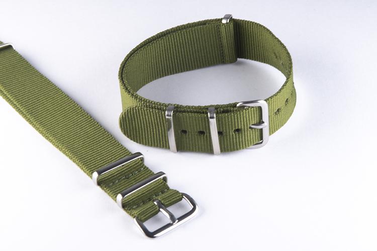 Grönt - Green Nato-armband 18mm 20mm 22mm 24mm