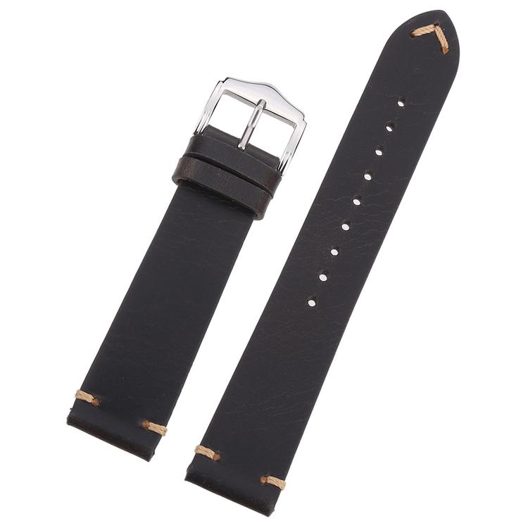 Svart Vintage klockarmband i läder