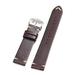 Mörkbrunt Vintage klockarmband av läder