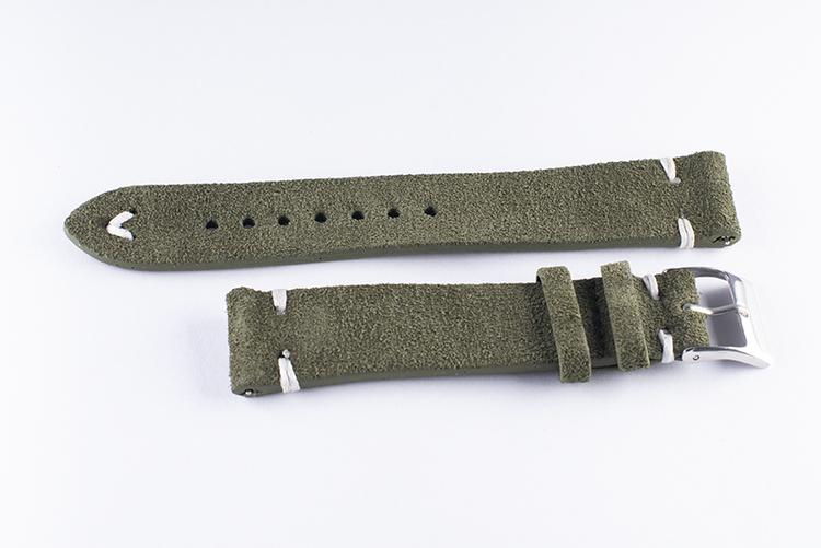 Mocka/Läder Grön 22 mm - 24 mm