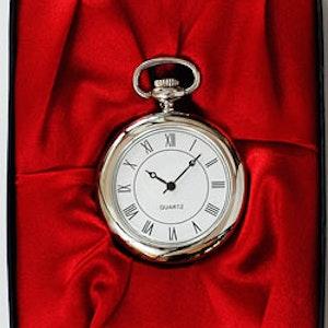 Elegant Fickur i fin sidenförpackning - Vit/Silver