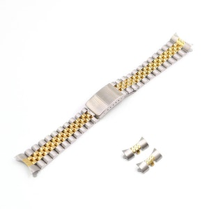 Jubileelänk Guld och silverfärgad 19mm 20mm 22mm