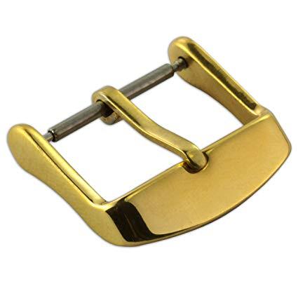 Guldfärgat spänne till klockarmband 14mm 16mm 18mm 20mm 22mm
