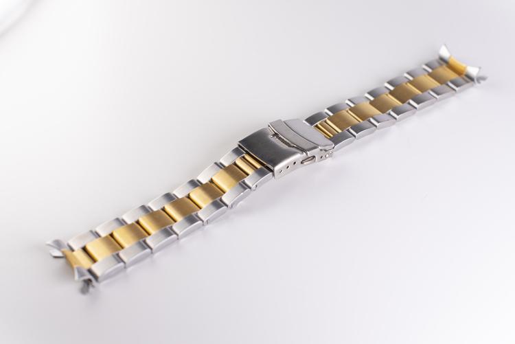 Oysterlänk med dubbelås twotone 20mm 22mm