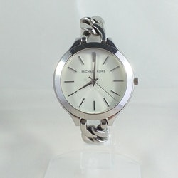 Michael Kors Slim Runway White Dial Stainless Steel Ladies Watch MK-3279