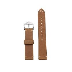 Khaki vintage klockarmband i läder