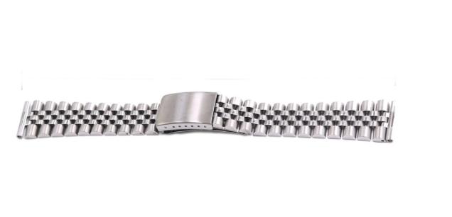 Jubileelänk rak ändbit silver / rostfritt stål 19mm 20mm 22mm