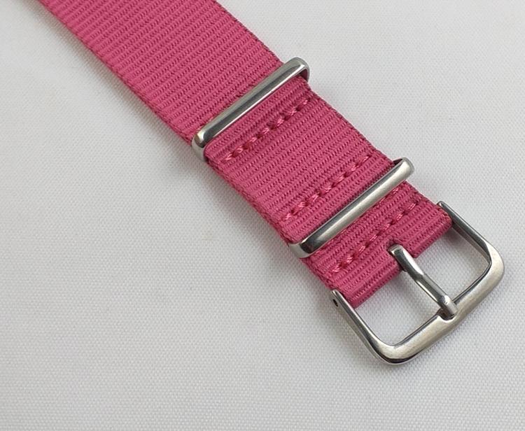 NATO-armband från Spanska Diloy i rosa - Bredd 20 mm