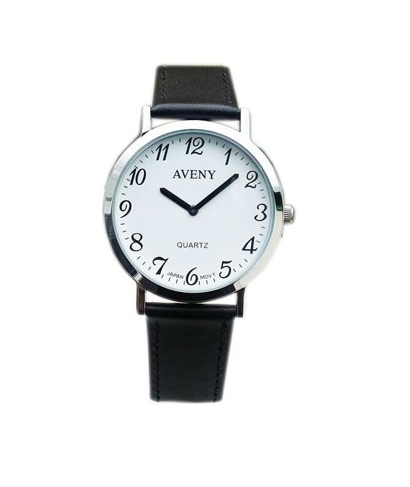 Vardagsklocka från Aveny - Unisexmodell - 41 mm - Vit urtavla