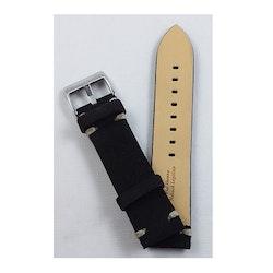 Mocka och läder armband - Svart - Lite kraftigare modell