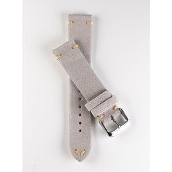 Premium klockarmband av beige / khaki mocka 20 mm 22 mm