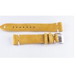 Klockarmband av gulbrun mocka / läder