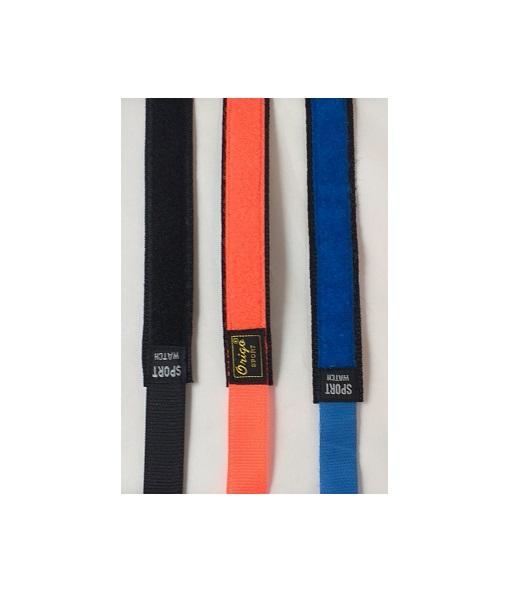 Kardborreband - Svart - Orange - Blå - 20 mm