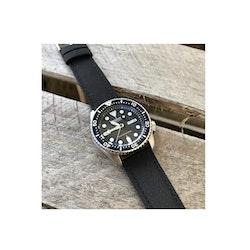 Klockarmband - Seglarduk - Sailcloth - Svart - 18mm 20mm 24mm