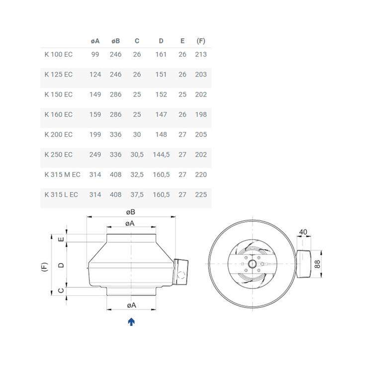 Systemair Kanalfläkt K 160 EC sileo