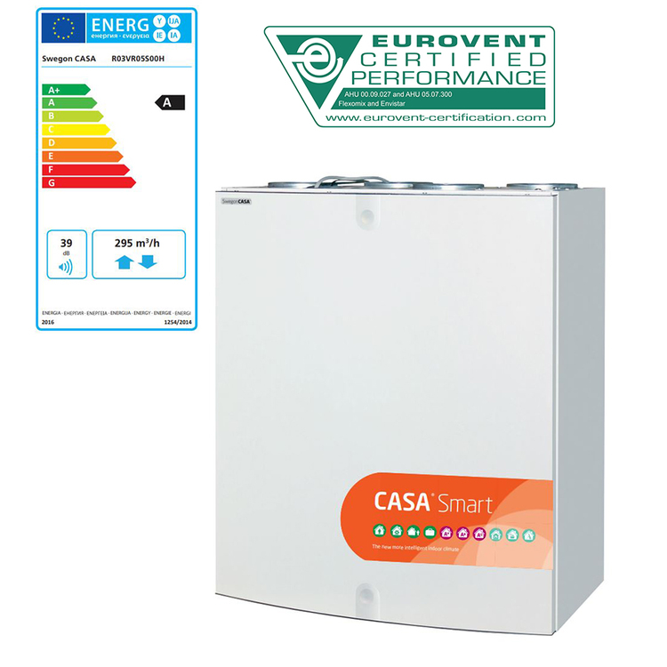 Swegon CASA R3 Smart - 150m²