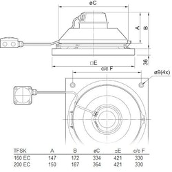 Systemair TFSK 160 EC Sileo Svart