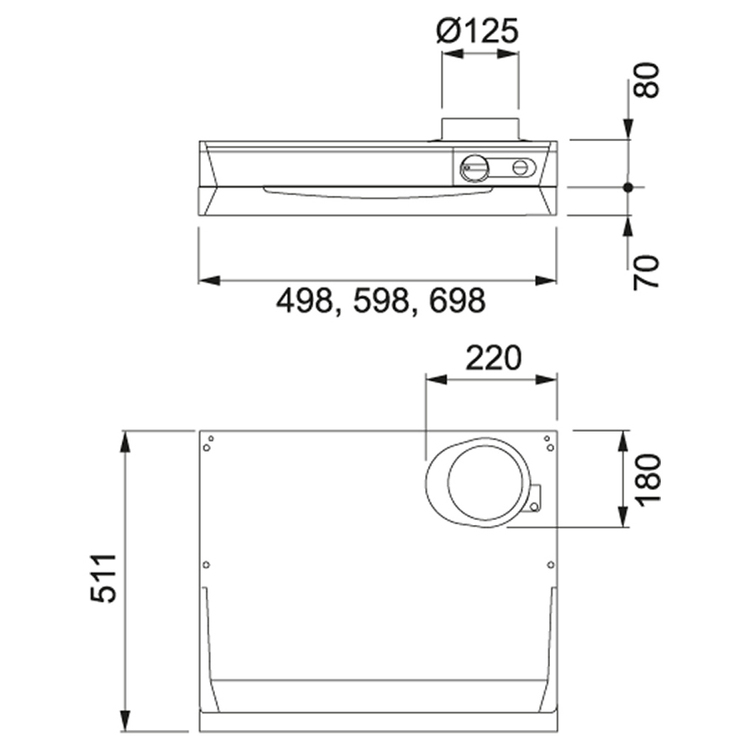 Franke F251-16 60cm VIT