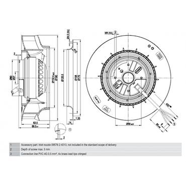 R2E190-RA26-29 Radialfläkt