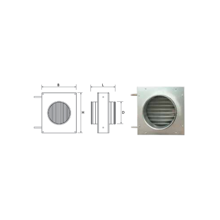 Kanalbatterier värme Komfovent DH