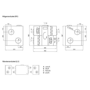 Komfovent Domekt R 400 HE - 300m²