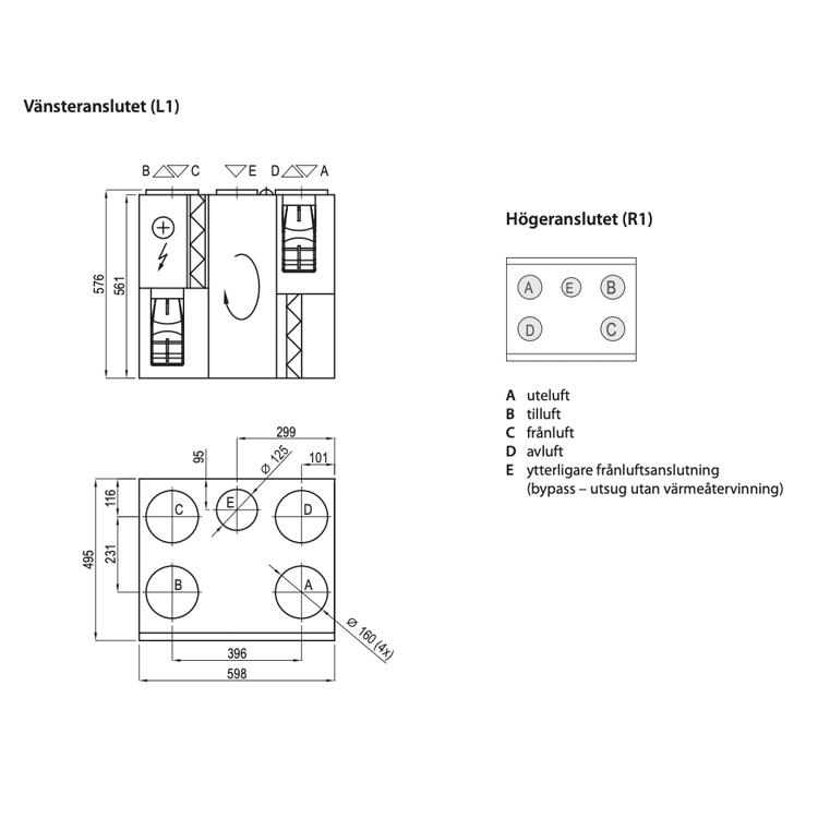 Komfovent Domekt R 400 VE -250m²