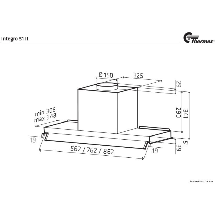 Thermex Integro 51 II 80cm (Rostfri)