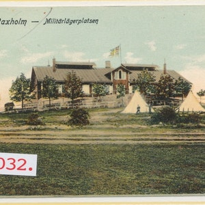 Waxholm Militärlägeplatsen (unionstid)