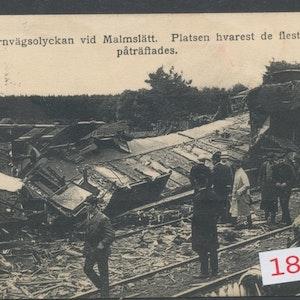 Tågolycka Malmslätt 1912