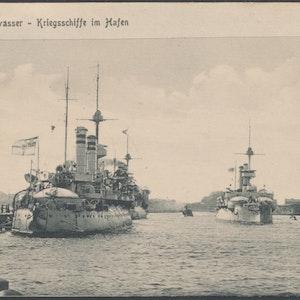 Danzig hamn - slagskepp