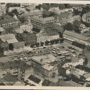 Lund, Mårtenstorget flygfoto