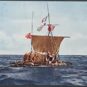 Heyerdal ute på seglats