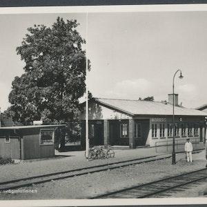 Järnvägsstationen Norberg, skadad baksida
