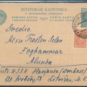 Postkort från Sovjet till Alunda