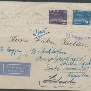 Luftpost till Tyskland 1935