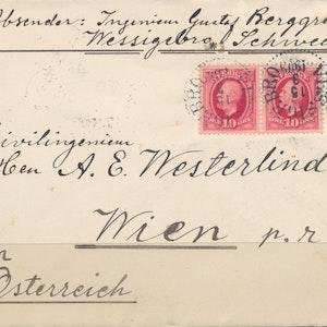 Vackert brev till Österrike 1909