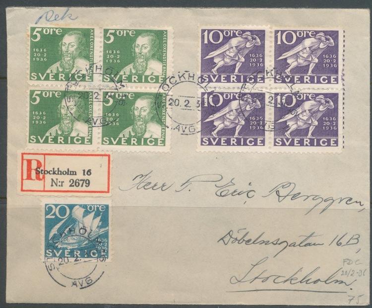 Vackert 4-blocksbrev 1931