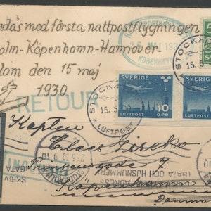 Nattpostflygning 15/5 1930