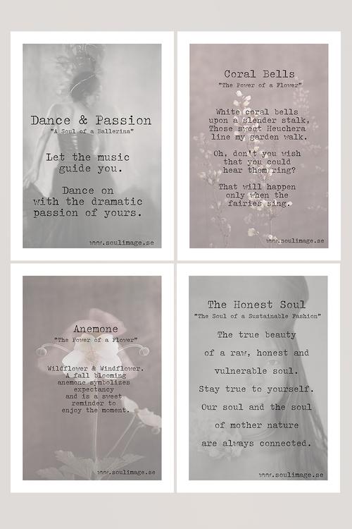 Cards -  A quartet of pink & black & white