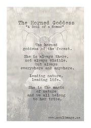 "Card ""The Hourned Goddess"""