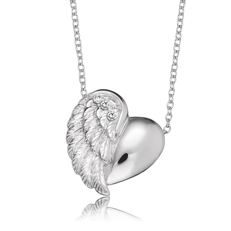 Halsband Heartwing silver