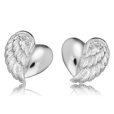 Örhängen Heartwing silver studs