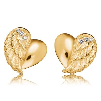 Örhänge Heartwing gold studs