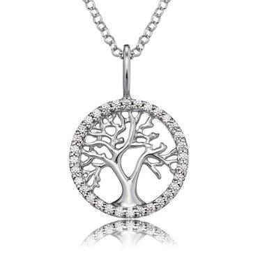 Halsband Livets Träd silver