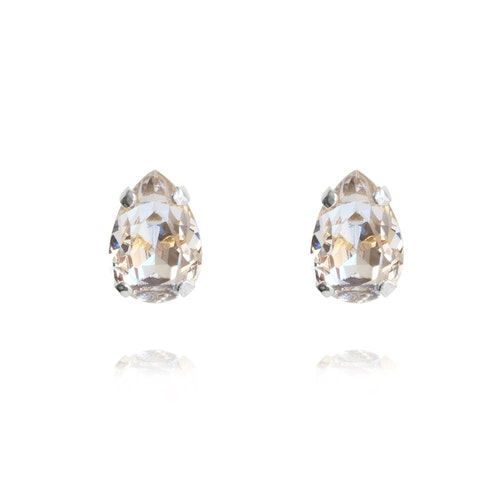 Petite Drop Earrings/ Crystal Rhodium