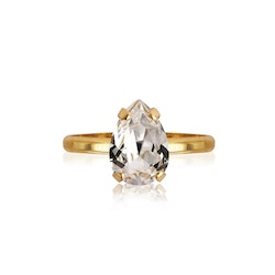 Petite Drop Ring/ Crystal Gold