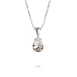 Petite Drop Necklace/ Crystal Rhodium