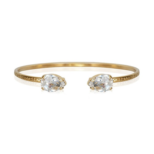 Petite Drop Bracelet/ Crystal Gold